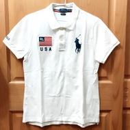 二手極新✨美國🇺🇸POLO純白衫