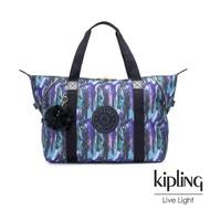 【KIPLING】渲染潑墨金點印花手提側背包-ART M