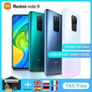 """สมาร์ทโฟน Redmi Note 9 4GB 128GB เวอร์ชันสากล,โทรศัพท์มือถือแอนดรอยด์ Helio G85 Octa Core 6.53 """"หน้าจอ5020MAh รุ่นล่าสุด"""