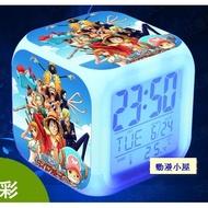動漫 海賊王 七彩電子鬧鐘