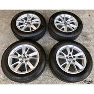 二手/中古鋁圈輪胎 原廠 奧迪 AUDI A4 16吋 5孔112 銀 (含胎) 馬牌 205/60-16 B9 T4
