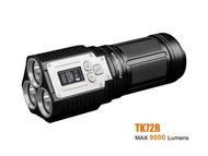 2018 ใหม่Fenix TK72R FenixTK72RแบบพกพาไฟฉายประสิทธิภาพสูงBuilt-in 7.2V/7000mAh 3 CREE XHP70 LED
