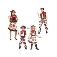 圣诞男女牛仔服裝圣誕節兒童牛仔服裝成人西部牛仔服裝牛仔帽奧汐
