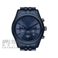 【蘋果小舖】Michael Kors 大表徑計時三眼腕錶-金屬湛藍色-42mm # MK8480
