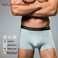 【CUMAR 機能內著】頂級莫代爾親膚透氣花紗無痕四角褲-男(三色可選) C71404