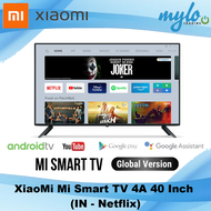 Xiaomi Mi TV 4A 40-Inch, Smart Android TV (Full-HD, Built-in Google Play, Youtube & Netflix)
