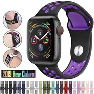 ร้อนซิลิโคนระบายอากาศสายนาฬิกาแบบสปอร์ตสำหรับApple Watch 5 4 3 2 1 42มิลลิเมตร38มิลลิเมตรสายยางวงสำหรับApple Watch 6 5 4 3 40มิลลิเมตร44มิลลิเมตร