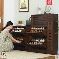 玄關櫃 實木鞋櫃間約現代玄關橡木鞋櫃超薄大容量鞋櫃翻鬥門廳儲物櫃 全館85折起 JD