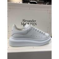 Alexander McQueen 女款 明星款厚底5cm 增高球鞋 白尾