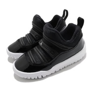 【NIKE 耐吉】休閒鞋 Jordan 11 Retro 運動 童鞋 襪套 輕便 舒適 透氣 小童 穿搭 黑 白(BQ7102-011)