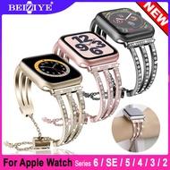 Women Diamond Watch Band For Apple Watch 6/SE Band 5 4 3 2 1 38mm 40mm 42mm 44mm สายนาฬิกา-Stainless Steel Strap women Diamond Bracelet watchbands for apple watch Series 6/SE/5/4/3/2/1