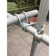 【T★F五金】鋼管管子固定件圓管32固定夾十字型工地施工連接件萬能鐵管圓形