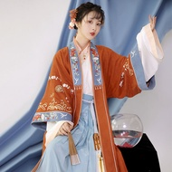 XinHuaEase Hanfu Women's Chinese Style Traditional Folk Oriental Ancient Song Dynasty Dresses