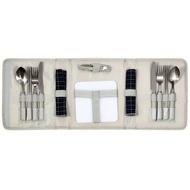 《省您錢購物網》全新~304不鏽鋼~戶外露營烤肉休閒餐具手提包*3包組
