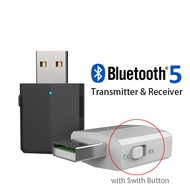 5.0 Wireless Bluetooth Audio Receiver Transmitter USB 3-in-1 TV Computer Aux Adapter