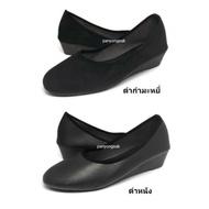 รองเท้าคัชชู ส้นสูง 1.5 นิ้ว รุ่น AJ711 Size 36-41 ดำหนัง ดำกำมะหยี่