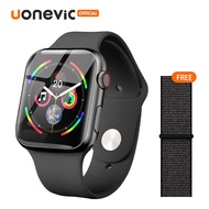 Uonevicสมาร์ทวอทช์1.54นิ้วBig HD,หน้าจอสัมผัสแบบเต็มจอกันน้ำระดับIP67โทรออกด้วยบลูทูธPK Apple Watch Series 5สำหรับIOS Android VS IWO 12 IWO 8 (I7S)