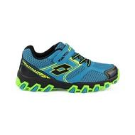 【巷子屋】義大利第一品牌-LOTTO 童款冒險王 防潑水越野跑鞋 [7036] 藍綠 免運