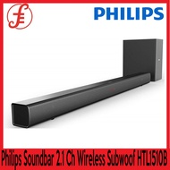 Philips SOUNDBAR HTL1510B Soundbar Speaker 2.1 Channel 70W Wireless Subwoofer