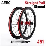 120Sounds Straignt Pull Aero Folding Bike wheelset disc brake 4 Bearings 22 inch 20 inch 406 451 bicycle wheel 40mm Aero Design