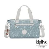 Kipling 純淨粉藍雪花手提側背公事包-PILAR