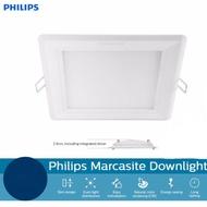 2PCS PHILIPS 59528 MARCASITE 14W LED DOWNLIGHT WHITE 6000K (SQUARE)