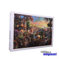1000PCS Jigsaw Puzzles Educational Toy Scenery Quiet Town Adult Kid Puzzle