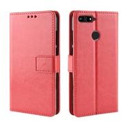 Flip Case Huawei Y6 Prime 2018 wallet Leather Back Cover Huawei Y6 Prime 2018 HuaweiY6Prime2018 Phone Casing