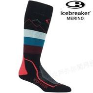 Icebreaker 長筒中毛圈配色滑雪襪/羊毛襪/排汗襪/美麗諾羊毛 女款104439 002 黑/藍/紫