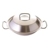【德國 Fissler】Original Profi 中式炒鍋附瀝油架 中華炒鍋 30cm 不鏽鋼鍋蓋