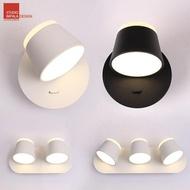 北歐簡約臥室床頭LED閱讀壁燈帶開關可調角度舒適上下發光  享購  ATF