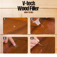 [Quality Assured] V-TECH All Purpose Wood filler Water Based Putty 50g (Natural/Brown)