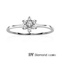 【DY Diamond 大亞鑽石】L.Y.A輕珠寶 18K白金 捧花 鑽石線戒