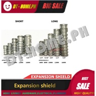 EXPANSION SHIELD /EXPANSION BOLT 1/4, 5/16, 3/8, 1/2, SHORT AND LONG