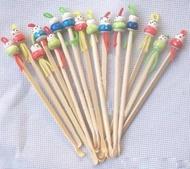 【夜市王】可愛的木質耳勺 掏耳朵的傳統用品 中國娃娃挖耳勺 木質耳勺10支30元
