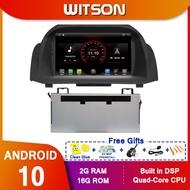 WITSON Android 10.0 GPSสำหรับรถยนต์สำหรับFORD FIESTA 2013- 2017รถวิทยุมัลติมีเดียเทปบลูทูธ