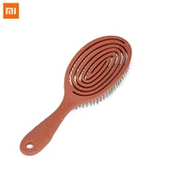 Xiaomi Mijia Xinzhi Soothing Pressure Elastic Comb Relaxing Elastic Massage Comb Portable Hair Brush Massage Brush Anti-static Magic Brushes Head Combs For Smart Home Use-Bean Red