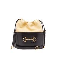 Gucci 1955 Horsebit 小牛皮水桶包 黑色
