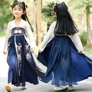 จีนโบราณเครื่องแต่งกายเด็กชีฟองเย็บปักถักร้อยPhoenix Fairyประสิทธิภาพชุดเด็กจีนเต้นรำเครื่องแต...