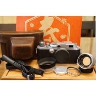 一套完美收藏 CANON IIF2 RF旁軸連動測距相機 + L39/LTM 50mm F1.8