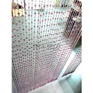 [工廠直營] 潔西卡水晶T063 紫色奧地利切面台製手工水晶珠簾寬80 長216公分 尺寸可訂製