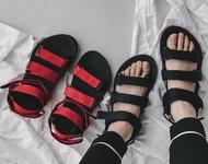 FINDSENSE MD 韓國  時尚休閒 潮 男 透氣 羅馬 織帶魔術貼涼鞋 男女情侶 涼鞋 拖鞋 海灘鞋