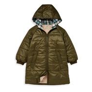 麗嬰房 Little moni - 3M科技羽絨保暖長版外套(男童版型)-男童版型-軍綠