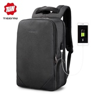 "Tigernu 15.6"" Waterproof Laptop Men Backpack USB Charge Travel Backpack Anti-theft Bag"