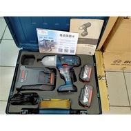 [工具喵] 美國製造 Bosch GDS 18V-LI HT 鋰電衝擊板手機 雙電工具箱4A