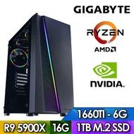 技嘉X570平台【殭屍騎士】R9十二核獨顯電玩機(R9-5900X/16G/1TB_SSD/GTX1660S-6G)