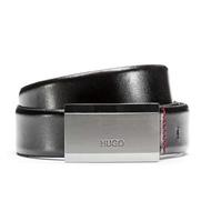Hugo老闆Hugo Boss皮帶Logo-engraved belt標識皮革 e-ShopSmart