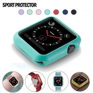 ใหม่ลูกอมซิลิโคนอ่อนนุ่มกรณีสำหรับ Apple Watch 5 4 40 มิลลิเมตร 44 มิลลิเมตรฝาครอบป้องกันเชลล์สำหรับ Apple Watch 321 38 มิลลิเมตร 42 มิลลิเมตรนาฬิกากันชน