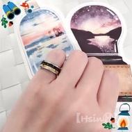 【HsinⒽ】現貨。黑金羅馬數字316不銹鋼轉運戒指 戒指 寶石 尾戒 項鍊 不銹鋼 316 抗氧化