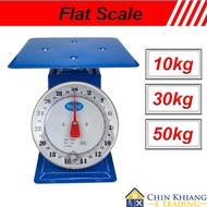 Flat Scale Commercial Mechanical Weighing Scale Analog Scale Timbang Penimbang 10kg 30kg 50kg